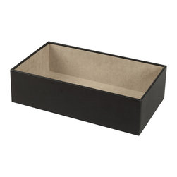 WOLF - Vault Trays Flatware Tray in Black - No one likes to polish silver. So unless you enjoy grubby hands and blackened dishtowels, save yourself some time. Store your flatware in this tarnish resistant tray.