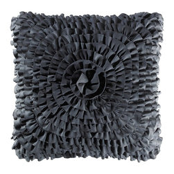 Teen Vogue - Teen Vogue Ruffle Black Decorative Pillow - 200892 - Shop for Pillows from Hayneedle.com! The ultimate in pretty-meets-punk the Teen Vogue Ruffle Black Decorative Pillow will make a dramatic addition to your bed. The feminine feel of this ruffled accent pillow is given a sultry update with its shiny black color that will compliment almost any decor.Full/Queen DimensionsFitted sheet: 75L x 54W in.Flat sheet: 96L x 81W in.Pillowcase: 30L x 20W in.Twin DimensionsFitted sheet: 80L x 60W in.Flat sheet: 102L x 94W in.Pillowcase: 30L x 20W in.About Teen VogueFrom the name that brings you the latest and greatest fashion trends for teens Teen Vogue now brings you a line of bedding to make your room or dorm as stylish as you. The fashion-forward Teen Vogue designers take the most current trends and translate them into inspired bedding sets and accessories in enough styles and colors to fit any taste all at an affordable price. Now that's always en vogue.
