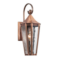 Joshua Marshal - One Light Antique Copper Wall Lantern - One Light Antique Copper Wall Lantern