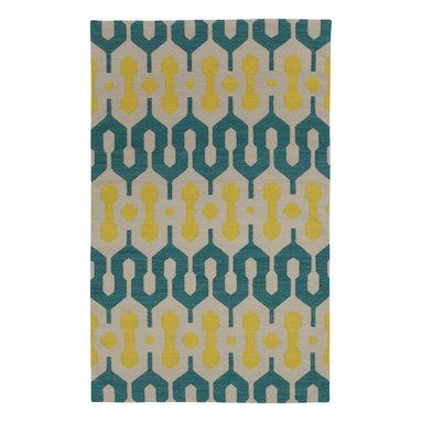 L'Alhambra rug in Turquoise Leo Sun -