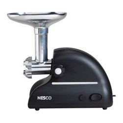 Nesco FG300 Food Grinder - The benefits of grinding your own meat are great, and the Nesco FG300 Food Grinder is great for the job. This easy grinder features an oversized hopper that holds 5 lbs. of meat at a time and super-sharp and efficient stainless steel blades. It's powered by a 380W motor with easy on/off and reverse and house in a heavy-duty die-cast aluminum body. This is the perfect solution for those looking to get into making their own ground beef, sausages, and more.About Nesco First debuting in the 1930's in Milwaukee Wisconsin, Nesco made a name for itself with the Nesco Roaster. Electricity had just made its way to Wisconsin, and when a couple engineers started experimenting, the idea of the portable oven was born. Nesco eventually joined efforts with the utility company, going from farm to farm throughout Wisconsin selling not only electric service, but the new Nesco Roaster Oven as well. The product went through several upgrades and revisions over the years, eventually being sold throughout the United States and Canada. Since then, Nesco has moved on to other small kitchen appliances like food dehydrators, meat grinders, and slicers.