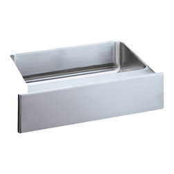 """Elkay - Elkay ELUHFS2816  Gourmet Undermount Sink - Elkay's ELUHFS2816 is a Gourmet Undermount Sink. This single-bowl sink is constructed of 18-gauge type 304 nickel bearing stainless steel, and can be mounted under almost any surface. It features a 7-7/8"""" bowl depth, and a 3-1/2"""" drain opening. This sink features an 8"""" front apron."""