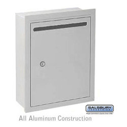 Salsbury Industries - Letter Box - Standard - Recessed Mounted - Aluminum - USPS Access - Letter Box - Standard - Recessed Mounted - Aluminum - USPS Access