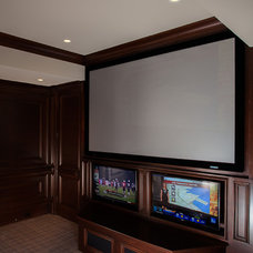 Modern Home Theater by Vincent Longo Custom Builders