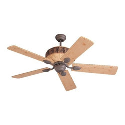 Montecarlo - Montecarlo Great Lodge Ceiling Fan in Weathered Iron - Montecarlo Great Lodge Model 5GL52WI in Weathered Iron with Great Lodge Thick Chiseled Lodge Pine Finished Blades.