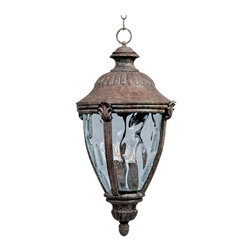 Maxim Lighting - Maxim Morrow Bay Cast 3-Light Outdoor Hanging Lantern Earth Tone - 3192WGET - Morrow Bay Cast is a traditional, European style collection from Maxim Lighting Interior in Earth Tone finish with Water Glass.
