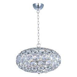 ET2 Lighting - ET2 Lighting E24011-20PC Crystal Pendant Light in Polished Chrome - ET2 Lighting E24011-20PC Crystal Pendant Light In Polished Chrome