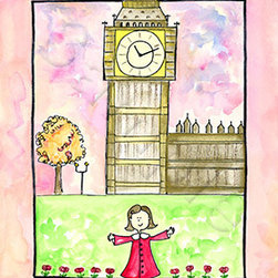 Oh how cute kids - Girl In London Ready to Hang Canvas Kid wall decor, 16 X 20 Canvas - I love to travel. Love, love, love to travel. I love everything about it - new food, new streets, new people - I think it is best to way to experience life. I thought about doing travel series for a while.