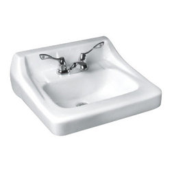 American Standard - Missouri Wall Mounted Bathroom Sink with Front Overflow and 8 inch Centers - American Standard 0436.008US.020 Missouri Wall Mounted Bathroom Sink with Front Overflow and 8 inch Centers in White.