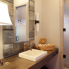 Transitional Bathroom by Morningside Architects LLP