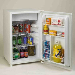 Avanti - Avanti 4.5 Cu. Ft. Refrigerator with Can Dispenser White - 4.5 Cu. Ft. Capacity Can Dispenser|Beverage Can Dispenser Holds Up to Five 12 oz. Cans|Flush Back Design|Recessed Handle|Door Rack Holds 2-Liter Bottle|Separate Full Width Chiller Compartment for Short Term Storage|Color: White  This item cannot ship to APO/FPO addresses.  Please accept our apologies.