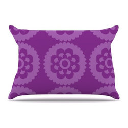"""Kess InHouse - Nicole Ketchum """"Moroccan Purple"""" Pillow Case, Standard (30"""" x 20"""") - This pillowcase, is just as bunny soft as the Kess InHouse duvet. It's made of microfiber velvety fleece. This machine washable fleece pillow case is the perfect accent to any duvet. Be your Bed's Curator."""