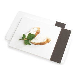 Blomus - Desa Breakfast Board - The Clean Plate Club will love this: This breakfast board actually offers your food on a sleek flat surface that washes up with ease and stacks conveniently. While you can use it as a serving showcase for small bites and desserts, it's also the perfect lap top surface for snacking on the sofa and breakfast in bed.
