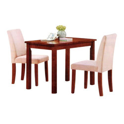 """Acme - 3-Piece Kids Play Table Set with Microfiber Parson Chairs - 3-Piece Kids Play Table Set with Microfiber Parson Chairs. Table measures 24"""" x 32"""" x 22"""" H, chairs measure 26"""" H at the back. Some assembly required."""