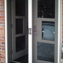 Contemporary screen doors find storm doors and for Retractable screens canada