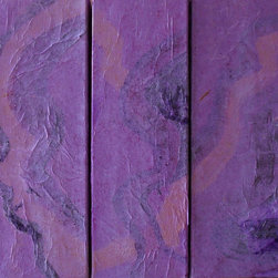 """Jacy Design - Abstract Art - Look Deep Within - Artwork by Jacy Design will enhance your home or work setting with beauty. Look Deep Within is a 3 piece painting (triptych) each piece measuring 4"""" x 12"""". The painting is created with acrylic paint in hues of purple, lilac, and enhanced with papers to create a textured story on canvas. The painting is ready to hang and features a gallery wrapped canvas that is painted on all four sides eliminating the need for a frame. Bring beauty into your life with original art!"""