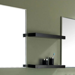 James Martin Furniture - 2-Pc Vertical Mirror Set - Includes two shelves. Made from oak wood. Espresso finish. Shelf: 24 in. W. Mirror: 19.5 in. W x 6 in. D x 35.5 in. H (32 lbs.)