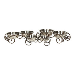 Unleashed Life - Carlisle - Small  Feeder - The scroll of this dreamy table is elegant and ready to serve. The Carlisle Table is made of steel and is a graceful addition to traditional d_cor.