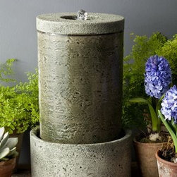 Campania - Tufa Cast Stone Tabletop Fountain -