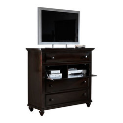 Broyhill - Broyhill Farnsworth Media Chest in Inky Black Stain - Broyhill - Chests - 4856225 - About This Product: