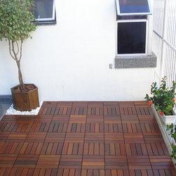 "Garden - Copacabana Itauba. Size: 12""x12"" - FlexDeck® - The greatest concept in Premium Brazilian Hardwood Modular Decking Tiles."