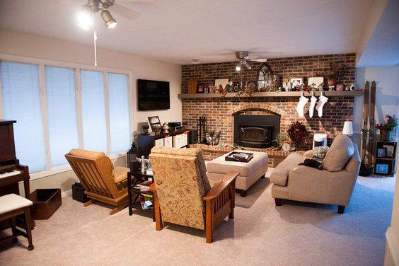 How To Arrange Furniture Around Brick Fireplace
