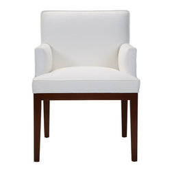 Ethan Allen - Ingrida Armchair - Simply tapered wooden legs and track arms accompany the Ingrida's generous seat and low back, marrying modern comfort with timeless elegance.
