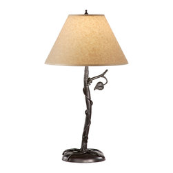 Stone County Iron Works - Sassafras Natural Black Table Lamp - Stone County Iron Works 901-653 Sassafras Natural Black Lodge/Rustic Table Lamp