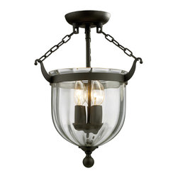 Z-Lite - Z-Lite 140SF Warwick 3 Light Semi-Flush Mounts in Bronze - This 3 light Semi Flush Mount from the Warwick collection by Z-Lite will enhance your home with a perfect mix of form and function. The features include a Bronze finish applied by experts. This item qualifies for free shipping!