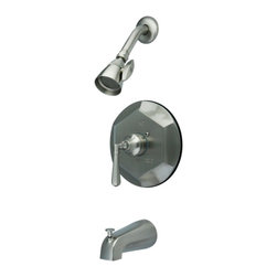 Kingston Brass - Satin Nickel Metropolitan Single Handle Tub & Shower Faucet KB4638HL - This tub and shower faucet is constructed of high quality brass to ensure reliability and durability. Its premier finish resists tarnishing and corrosion. All mounting hardware is included and standard US plumbing connections are used. Update your bathroom with this sturdy and stylish faucet. . Manufacturer: Kingston Brass. Model: KB4638HL. UPC: 663370072512. Product Name: Single Handle Tub & Shower Faucet. Collection / Series: Metropolitan. Finish: Satin Nickel. Theme: Contemporary / Modern. Material: Brass. Type: Faucet. Features: Meets ASME A112.18.1, ANSI/NSF 61 Sec. 9 code