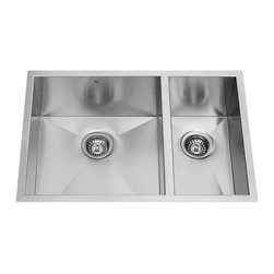 Vigo Industries - 20 in. Undermount Kitchen Sink and Faucet Set - Includes soap dispenser, two matching bottom grids and two sink strainers