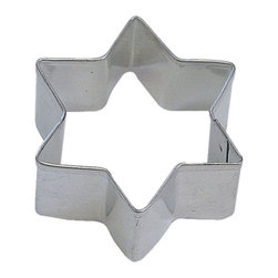 RM - Star Hanukah 2 In.  B1186X - Star Hanukah cookie cutter, made of sturdy tin, Size 2 in., Depth 7/8 in., Color silver