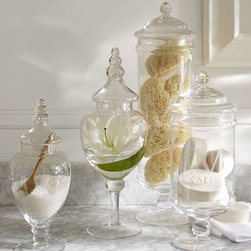 Classic Glass Apothecary Jar - Add your salts to some apothecary jars for a gorgeous display.