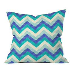Jacqueline Maldonado Chevron Ocean Outdoor Throw Pillow - Do you hear that noise? it's your outdoor area begging for a facelift and what better way to turn up the chic than with our outdoor throw pillow collection? Made from water and mildew proof woven polyester, our indoor/outdoor throw pillow is the perfect way to add some vibrance and character to your boring outdoor furniture while giving the rain a run for its money.
