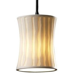 pendant lighting Limoges Mini Hourglass Pendant by Justice Design Group
