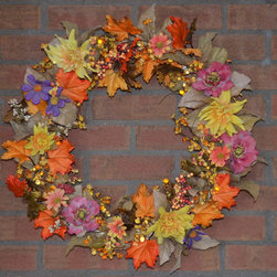 Holiday Decoration - Fall Colors Wreath