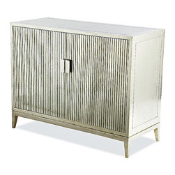 Brownstone Furniture Treviso Ribbed Silver Chest - Brownstone Furniture Treviso Ribbed Silver Chest