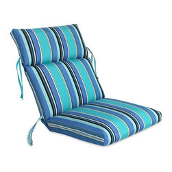 Comfort Classics - Comfort Classics Sunbrella Channeled Chair Cushion - 22 x 44 x 3 in. - 24 in. - - Shop for Cushions and Pads from Hayneedle.com! Channel your inner bathing beauty with the Comfort Classics Sunbrella Channeled Chair Cushion - 22 x 44 x 3 in. - it s perfect for beach-style lounging on your own back patio. Crafted with durable quick-dry Sunbrella fabric this plush cushion boasts tufted channels secure string ties a rounded waterfall edge and a brightly striped motif in your choice of many signature Sunbrella colorways.