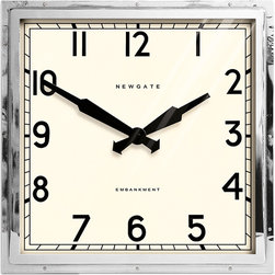 """Newgate - Newgate - Embankment Giant Wall Clock - This stunning oversized clock is a recreation of an original. The quality is second to none and this can be seen with its precision hand folded metal case, metal hands, and printed dial. 21.25"""" x 21.25"""" x 5""""deep"""