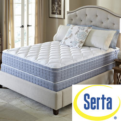 Serta - Serta Revival Euro Top Full-size Mattress and Foundation Set - Take your sleeping experience to the next level with this Serta Revival full-size mattress set. The luxurious European pillow-top design and Serta's breathable Pillo-Fill cushioning material combine for a cool, comfortable sleeping surface.
