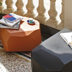 Meteor Small Outdoor Planters by Serralunga - Meteor Small Outdoor Planters by Serralunga. Meteor is the quintessential informal system of sitting for indoor and outdoor furniture. Arik Levy's rocks perfectly blend both in a natural landscape and in all interior. Available also in luminous and bench versions. Meteor Small Outdoor Planters by Serralunga are designed by Arik Levy.