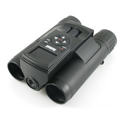 Frontgate - ImageView Binoculars - Fully coated lens. Compact design fits in your pocket. Tripod socket and remote shutter cable for slow shutter-speed images and wildlife viewing. Comes with a mini tripod, USB cable, carrying case, and neck strap. Requires three AAA batteries, not included. If you've ever wished you could take a photo of a stunning view captured through binoculars, consider your wish granted. Our ImageView Binoculars from Bushnell feature digital imaging technology and 8 times magnification for optimal images, which can be recorded via high-resolution 12 MP photos or 1280x720p HD video. With a compact design, a 32 GB SD card, and a USB port for easy uploading of images, it's also a space-savvy solution for traveling.  .  .  .  .  . Clean with provided lens cloth . View product manual (PDF format) .