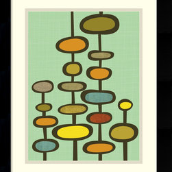 Amanti Art - Sea Pods Framed Print by Jenn Ski - Jenn Ski's framed print shows that abstract art can be sophisticated without being snooty. This playful array of color and shapes instantly makes your space interesting and fun. This works especially well in a child's room or your sun room.