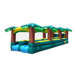 Kidwise - Kidwise Hawaiian Slip & Slide Double Lane Inflatable Slide - KE-WS4312 - Shop for Tents and Playhouses from Hayneedle.com! Say Aloha to water-filled fun with the Kidwise Hawaiian Slip and Slide Double Lane Inflatable Slide. This fun commercial grade inflatable will be the best way to beat the heat at birthday parties church functions fairs festivals or block parties. It s made of durable 18-ounce colorful PVC vinyl and features a long double lane design for fast paced sliding action. It also comes complete with blower repair kit stakes and tarp.About Kidwise ProductsThis item is made by Kidwise Outdoors a company whose focus is safe fun excitement for kids. Kidwise strives to promote safe play for kids of all ages through outside activities. Their line of products includes swing sets trampolines inflatable bouncers bikes sport goals and many other items to choose from. Kidwise guarantees all of their products against defects. Like Hayneedle their goal is 100% satisfaction from customers. Their product lines focus on kid-friendly items that are fun to play with and stimulate balance and a healthy lifestyle for kids.