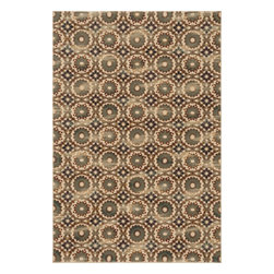 """Loloi Rugs - Loloi Rugs Vista Collection - Ivory / Rust, 2'-3"""" x 3'-9"""" - Power loomed in Egypt, the Vista Collection offers striking pattern inspired by ethnic textiles. All nine designs share a color palette of desert hues like rust, taupe, and more on a 100% polypropylene fiber for strong durability. Available in six sizes including a scatter and a runner."""