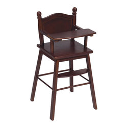 Guidecraft - Guidecraft Espresso Doll High Chair - Guidecraft - Doll Furniture - G98105 - Our heirloom-quality Doll Furniture Collection is the perfect play-time ensemble. Made of hardwood solids each piece is available in both natural and espresso finishes.