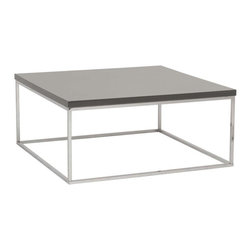 Eurostyle - Eurostyle Teresa Square Coffee Table in Gray Lacquer & Chrome - Square Coffee Table in Gray Lacquer & Chrome belongs to Teresa Collection by Eurostyle There's plain and there's perfect. This collection of 4 Teresa table designs are not only perfectly designed for strength and timeless style, they work beautifully together. Go for the group! Coffee Table (1)