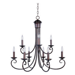 Maxim Lighting - Maxim Lighting Loft 2 Tier Chandelier in Oil Rubbed Bronze - Shown in picture: Simple yet stylish - this collection is perfect for any d'cor. Offered in Oil Rubbed Bronze or Satin Nickel finishes.