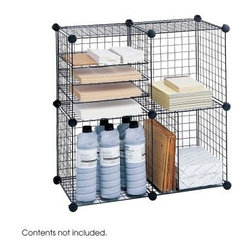 Safco 5279BL Desktop Wire Cube Organizer - The Safco 5279BL Desktop Wire Cube Organizer offers you a creative storage solution for a small space or desktop. These wired cubes can be arranged in different ways to accommodate office or personal supplies. The versatility of these cubes allows them to be arranged as 5-cube or 4-cube sets, depending on your need. Its welded open wire construction resists dust accumulation while the combined strength of these interlocking cubes can carry up to 20 pounds of evenly distributed weight. About Safco ProductsSafco products were specifically developed to meet the changing needs of the business world, offering real design without great expense. Each product is designed to fit the needs of individuals and the way they work, by enhancing comfort and meeting the modern needs of organization in the workplace. These products encourage work-area efficiency and ultimately, work-life efficiency: from schools and universities, to hospitals and clinics, from small offices and businesses to corporations and large institutions, airports, restaurants, and malls. Safco continues to offer new colors, new styles, and new solutions according to market trends and the ever-changing needs of business life.