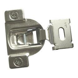 """DoorCorner.com - Euro-Concealed Satin Nickel Cabinet Hinge, 60-Pack - Face Frame, 1/2"""" Overlay"""